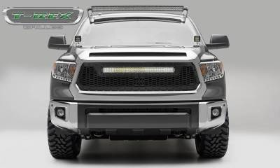 "T-REX Grilles - 2014-2017 Tundra Stealth Laser Torch Grille, Black, 1 Pc, Replacement, Black Studs with (1) 30"" LED - PN #7319641-BR"