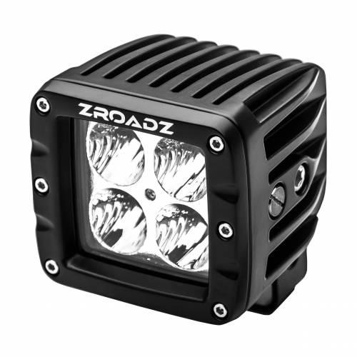 ZROADZ OFF ROAD PRODUCTS - 3 Inch LED Flood Beam Pod Lights - PN #Z30BC14W20 - Image 1