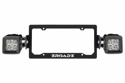 ZROADZ - Universal License Plate Frame LED Kit with (2) 3 Inch LED Pod Lights - PN #Z310005-KIT - Image 5
