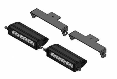 ZROADZ - Universal Panel Clamp LED Kit with (2) 6 Inch LED Straight Single Row Slim Light Bars - PN #Z310006-KIT - Image 4