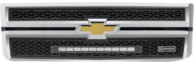 "T-REX Grilles - 2014-2015 Silverado 1500 ZROADZ Grille, Black, 2 Pc, Replacement with (1) 20"" LED - PN #Z311211 - Image 2"