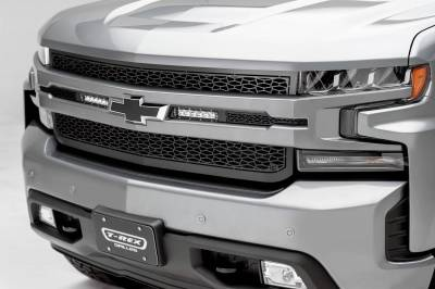 """ZROADZ OFF ROAD PRODUCTS - 2019-2021 Silverado 1500 ZROADZ Grille, Black, 1 Pc, Replacement with (2) 6"""" LEDs, Does Not Fit Vehicles with Camera - PN #Z311261 - Image 1"""