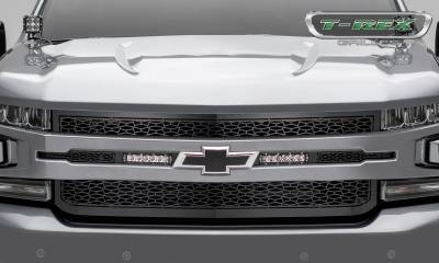 "ZROADZ - 2019-2021 Silverado 1500 ZROADZ Grille, Black, 1 Pc, Replacement with (2) 6"" LEDs, Does Not Fit Vehicles with Camera - PN #Z311261 - Image 3"