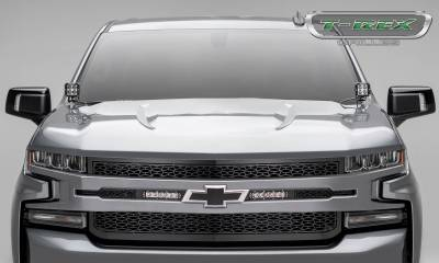 "ZROADZ - 2019-2021 Silverado 1500 ZROADZ Grille, Black, 1 Pc, Replacement with (2) 6"" LEDs, Does Not Fit Vehicles with Camera - PN #Z311261 - Image 4"