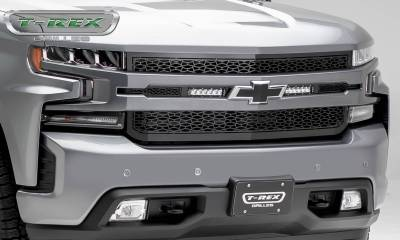"""ZROADZ OFF ROAD PRODUCTS - 2019-2021 Silverado 1500 ZROADZ Grille, Black, 1 Pc, Replacement with (2) 6"""" LEDs, Does Not Fit Vehicles with Camera - PN #Z311261 - Image 5"""
