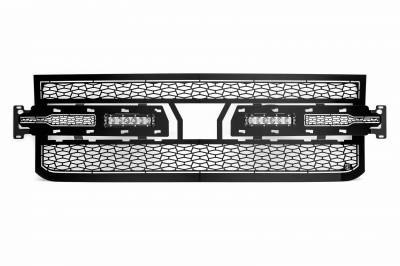 """ZROADZ OFF ROAD PRODUCTS - 2019-2021 Silverado 1500 ZROADZ Grille, Black, 1 Pc, Replacement with (2) 6"""" LEDs, Does Not Fit Vehicles with Camera - PN #Z311261 - Image 7"""