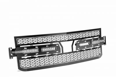 """ZROADZ OFF ROAD PRODUCTS - 2019-2021 Silverado 1500 ZROADZ Grille, Black, 1 Pc, Replacement with (2) 6"""" LEDs, Does Not Fit Vehicles with Camera - PN #Z311261 - Image 8"""