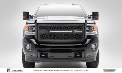 "T-REX Grilles - 2015-2019 Sierra HD ZROADZ Grille, Black, 1 Pc, Insert with (1) 20"" LED - PN #Z312111 - Image 1"