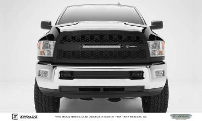 "T-REX Grilles - 2013-2018 Ram 2500, 3500 ZROADZ Grille, Black, 1 Pc, Replacement with (1) 20"" LED - PN #Z314521"