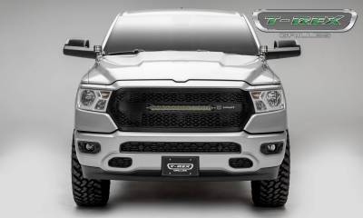 """T-REX Grilles - 2019-2021 Ram 1500 Laramie, Lone Star, Big Horn, Tradesman ZROADZ Grille, Black, 1 Pc, Replacement with (1) 20"""" LED, Does Not Fit Vehicles with Camera - PN #Z314651 - Image 3"""