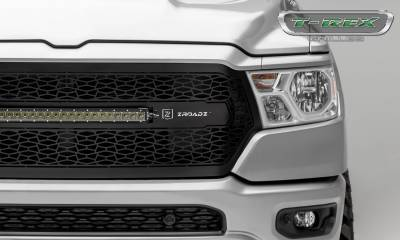 """T-REX Grilles - 2019-2021 Ram 1500 Laramie, Lone Star, Big Horn, Tradesman ZROADZ Grille, Black, 1 Pc, Replacement with (1) 20"""" LED, Does Not Fit Vehicles with Camera - PN #Z314651 - Image 5"""