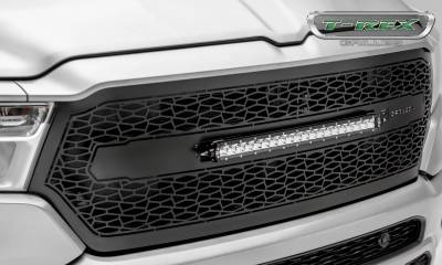 "T-REX Grilles - 2019-2021 Ram 1500 Laramie, Lone Star, Big Horn, Tradesman ZROADZ Grille, Black, 1 Pc, Replacement with (1) 20"" LED, Does Not Fit Vehicles with Camera - PN #Z314651 - Image 6"
