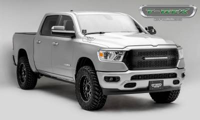 """T-REX Grilles - 2019-2021 Ram 1500 Laramie, Lone Star, Big Horn, Tradesman ZROADZ Grille, Black, 1 Pc, Replacement with (1) 20"""" LED, Does Not Fit Vehicles with Camera - PN #Z314651 - Image 7"""