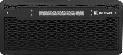 "T-REX Grilles - 2007-2018 Jeep JK, JKU ZROADZ Grille, Black with Black Trim, 1 Pc, Insert with (1) 10"" LED - PN #Z314831-10C - Image 2"