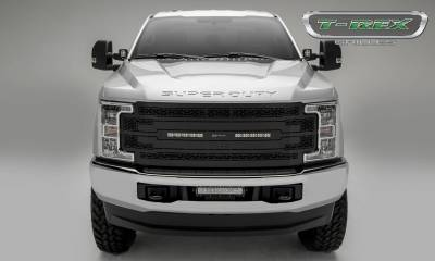 """T-REX Grilles - 2017-2019 Super Duty ZROADZ Grille, Black, 1 Pc, Replacement with (2) 10"""" LEDs, Fits Vehicles with Camera - PN #Z315371 - Image 2"""