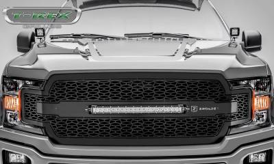 "T-REX Grilles - 2018-2020 F-150 ZROADZ Grille, Black, 1 Pc, Replacement with 20"" LED, Does Not Fit Vehicles with Camera - PN #Z315711 - Image 2"
