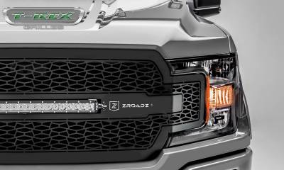 "T-REX Grilles - 2018-2020 F-150 ZROADZ Grille, Black, 1 Pc, Replacement with 20"" LED, Does Not Fit Vehicles with Camera - PN #Z315711 - Image 3"