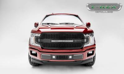 "T-REX Grilles - 2018-2020 F-150 ZROADZ Grille, Black, 1 Pc, Replacement with 20"" LED, Does Not Fit Vehicles with Camera - PN #Z315711 - Image 4"