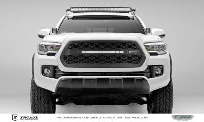 "T-REX Grilles - 2016-2017 Tacoma ZROADZ Grille, Black, 1 Pc, Insert with (1) 20"" LED - PN #Z319411"