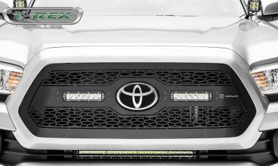 "T-REX Grilles - 2018-2021 Tacoma ZROADZ Grille, Black, 1 Pc, Insert with (2) 6"" LEDs, Does Not Fit Vehicles with Camera - PN #Z319511 - Image 4"