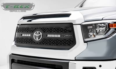 """T-REX Grilles - 2018-2021 Tundra ZROADZ Grille, Black, 1 Pc, Replacement with (2) 10"""" LEDs, Does Not Fit Vehicles with Camera - PN #Z319661 - Image 2"""