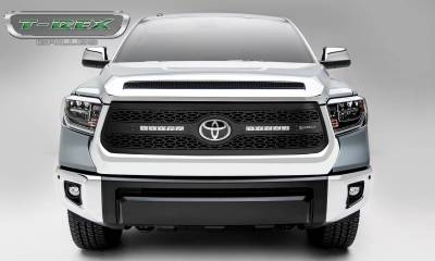 """T-REX Grilles - 2018-2021 Tundra ZROADZ Grille, Black, 1 Pc, Replacement with (2) 10"""" LEDs, Does Not Fit Vehicles with Camera - PN #Z319661 - Image 4"""