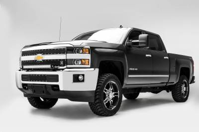 ZROADZ - 2015-2019 Silverado, Sierra HD Front Bumper Top LED Kit with (1) 30 Inch LED Straight Double Row Light Bar - PN #Z321221-KIT - Image 3