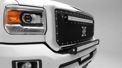 ZROADZ - 2015-2019 Silverado, Sierra HD Front Bumper Top LED Kit with (1) 30 Inch LED Straight Double Row Light Bar - PN #Z321221-KIT - Image 4