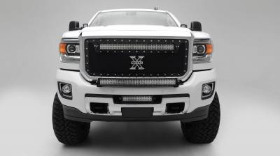 ZROADZ - 2015-2019 Silverado, Sierra HD Front Bumper Top LED Kit with (1) 30 Inch LED Straight Double Row Light Bar - PN #Z321221-KIT - Image 7
