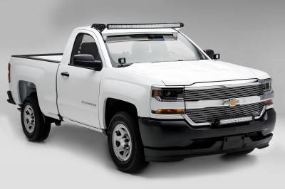 ZROADZ - 2016-2018 Chevrolet Silverado 1500 Front Bumper Top LED Kit with (1) 30 Inch LED Straight Double Row Light Bar - PN #Z322082-KIT - Image 5
