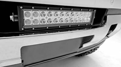 ZROADZ - 2015-2019 GMC Sierra 2500, 3500 Front Bumper Center LED Kit with (1) 12 Inch LED Straight Double Row Light Bar - PN #Z322111-KIT - Image 1
