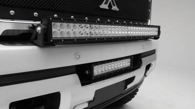 ZROADZ - 2015-2019 GMC Sierra 2500, 3500 Front Bumper Center LED Kit with (1) 12 Inch LED Straight Double Row Light Bar - PN #Z322111-KIT - Image 2