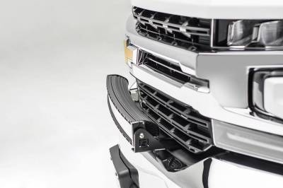 ZROADZ - 2019-2021 Chevrolet Silverado 1500 Front Bumper Top LED Bracket to mount 30 Inch Curved LED Light Bar - PN #Z322282 - Image 5