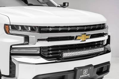 ZROADZ - 2019-2021 Chevrolet Silverado 1500 Front Bumper Top LED Kit with (1) 30 Inch LED Curved Double Row Light Bar - PN #Z322282-KIT - Image 1