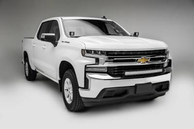 ZROADZ - 2019-2021 Chevrolet Silverado 1500 Front Bumper Top LED Kit with (1) 30 Inch LED Curved Double Row Light Bar - PN #Z322282-KIT - Image 2