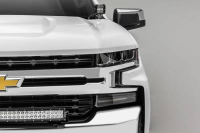 ZROADZ - 2019-2021 Chevrolet Silverado 1500 Front Bumper Top LED Kit with (1) 30 Inch LED Curved Double Row Light Bar - PN #Z322282-KIT - Image 4