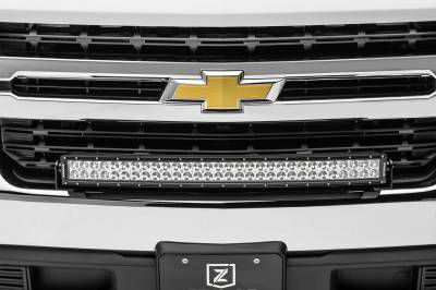 ZROADZ - 2019-2021 Chevrolet Silverado 1500 Front Bumper Top LED Kit with (1) 30 Inch LED Curved Double Row Light Bar - PN #Z322282-KIT - Image 5