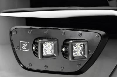 T-REX Grilles - 2015-2020 Chevrolet Colorado Front Bumper OEM Fog LED Bracket to mount (4) 3 Inch LED Pod Lights - PN #Z322671 - Image 5