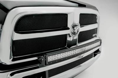 ZROADZ - 2010-2018 Ram 2500, 3500 Front Bumper Top LED Kit with (1) 30 Inch LED Curved Double Row Light Bar - PN #Z324522-KIT - Image 4
