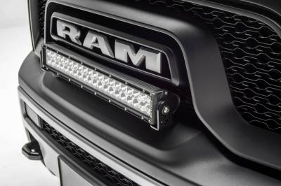 ZROADZ - 2015-2018 Ram Rebel Front Bumper Top LED Kit with (1) 20 Inch LED Straight Double Row Light Bar - PN #Z324552-KIT - Image 1