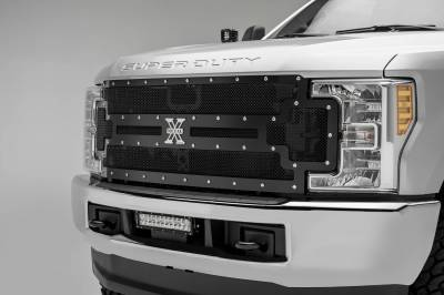 ZROADZ - 2017-2019 Ford Super Duty Front Bumper Center LED Kit with (1) 12 Inch LED Straight Double Row Light Bar - PN #Z325471-KIT - Image 1