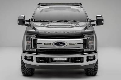 ZROADZ - 2017-2019 Ford Super Duty Front Bumper Center LED Kit with (1) 12 Inch LED Straight Double Row Light Bar - PN #Z325471-KIT - Image 5
