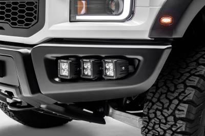 ZROADZ - 2017-2021 Ford F-150 Raptor Front Bumper OEM Fog LED Kit with (6) 3 Inch LED Pod Lights - PN #Z325652-KIT - Image 1