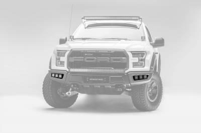 ZROADZ - 2017-2021 Ford F-150 Raptor Front Bumper OEM Fog LED Kit with (6) 3 Inch LED Pod Lights - PN #Z325652-KIT - Image 2