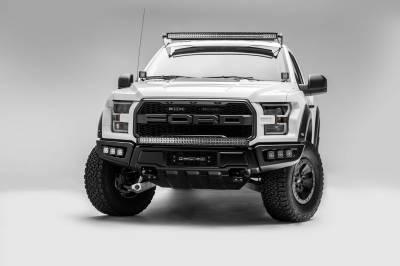 ZROADZ - 2017-2021 Ford F-150 Raptor Front Bumper OEM Fog LED Kit with (6) 3 Inch LED Pod Lights - PN #Z325652-KIT - Image 7