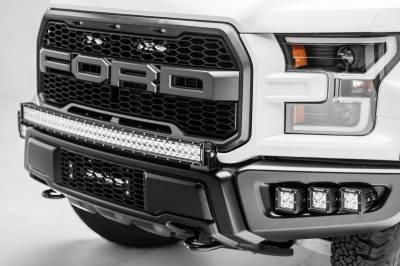 ZROADZ - 2017-2021 Ford F-150 Raptor Front Bumper OEM Fog LED Kit with (6) 3 Inch LED Pod Lights - PN #Z325652-KIT - Image 9