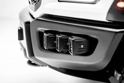 ZROADZ - 2017-2021 Ford F-150 Raptor Front Bumper OEM Fog LED Kit with (6) 3 Inch LED Pod Lights - PN #Z325652-KIT - Image 10
