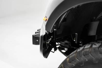 ZROADZ - 2017-2021 Ford F-150 Raptor Front Bumper OEM Fog LED Kit with (6) 3 Inch LED Pod Lights - PN #Z325652-KIT - Image 12