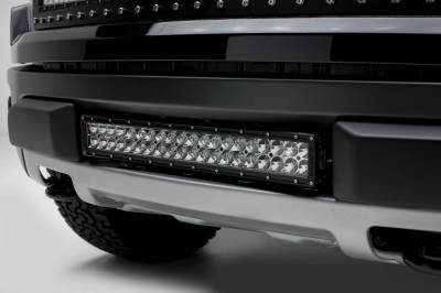 ZROADZ - 2010-2014 Ford F-150 Raptor Front Bumper Center LED Kit with (1) 20 Inch LED Straight Double Row Light Bar - PN #Z325661-KIT - Image 1