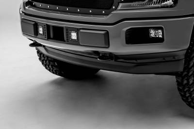 ZROADZ - 2018-2020 Ford F-150 Lariat, Limited Front Bumper Center LED Kit with (2) 3 Inch LED Pod Lights - PN# Z325711-KIT - Image 3